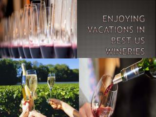 Enjoying vacations in best US wineries