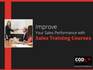 Sales Training Workshop - Improve Your Sales Performance!