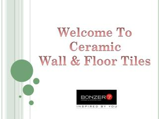 Latest Designs of Ceramic Tiles