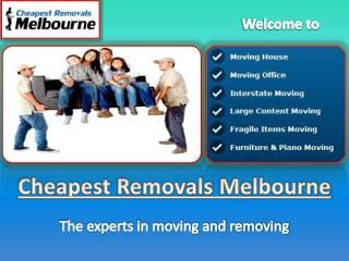 Furniture Removalists in Melbourne - Cheapest Removals Melbo