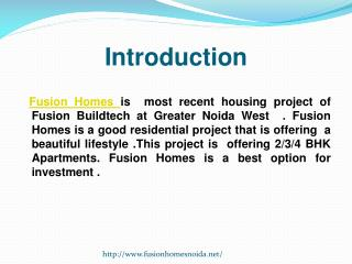 Fusion Homes Greater Noida