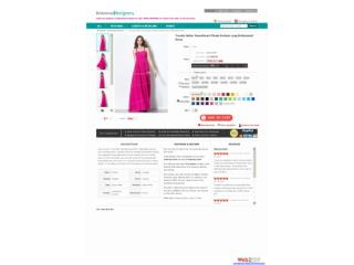 Trendy Halter Sweetheart Pleats Fuchsia Long Bridesmaid Dres