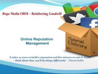 Online Reputation Management - Rope Media