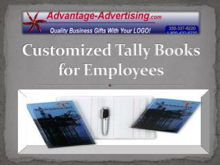 Customized Tally Books for Employees