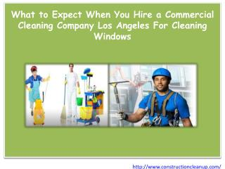 What to Expect When You Hire a Commercial Cleaning Company