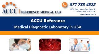 Affordable Lab Tests in NJ by Accu Reference MedicalLab