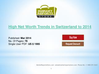 Switzerland High net Worth Market Trends