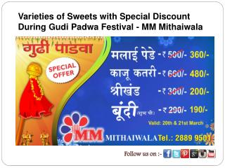 Varieties of Sweets with Special Discount During Gudi Padwa