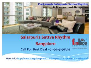 Salarpuria Sattva Rhythm, New Launch Price List, Bangalore