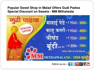 Popular Sweet Shop in Malad Offers Gudi Padwa Special Discou