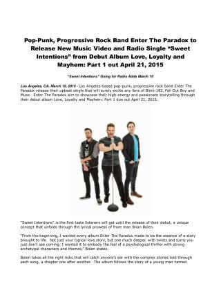 Pop-Punk, Progressive Rock Band Enter The Paradox to Release