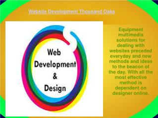 Website Development Thousand Oaks