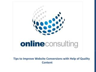 Website Conversions with Help of Quality Content