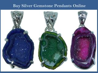 Buy Silver Gemstone Pendants Online