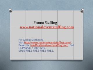 Promo Staffing - www.nationaleventstaffing.com