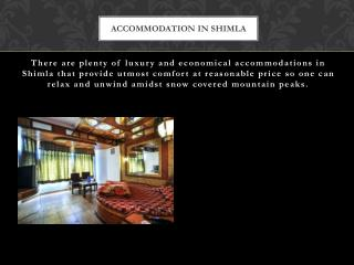 Accommodation in shimla