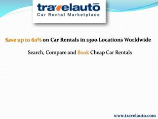 Travel Auto- Car Rental Marketplace