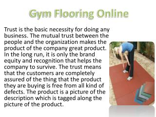 Gym Flooring Online