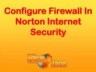 Configure Firewall in Norton Internet Security