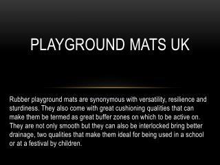 Playground mats UK