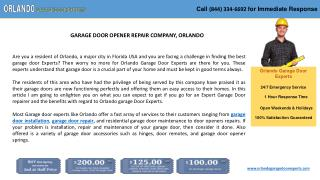 GARAGE DOOR OPENER REPAIR COMPANY, ORLANDO