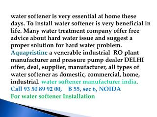 industrial ro plant manufacturer delhi, water softener india