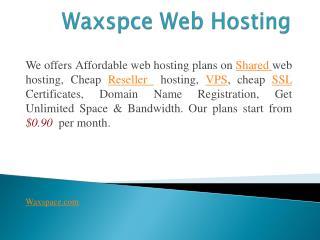 Waxspace Web Hosting Company