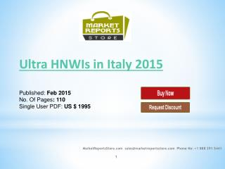 Ultra high net worth individual Italy 2015