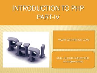 PHP training institute in gurgaon