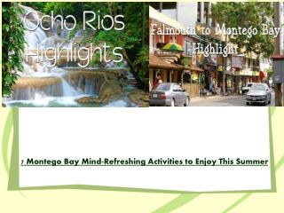 7 Montego Bay Mind-Refreshing Activities to Enjoy This Summe