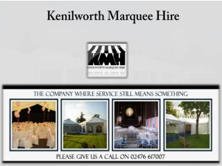 Applications of marquees