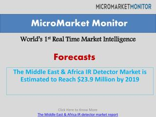 The Middle East & Africa IR Detector Market is Estimated to