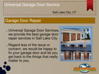 Salt Lake City Garage Door Service