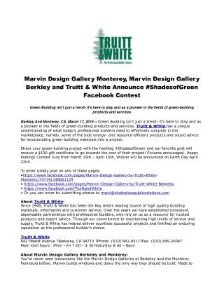 Marvin Design Gallery Monterey, Marvin Design Gallery