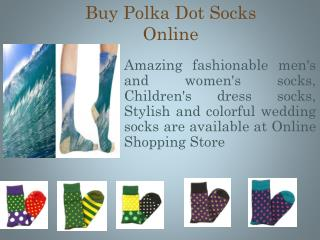 Buy Online Polka Dot Socks in Canada