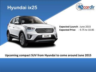 Upcoming compact SUV from Hyundai to come around June 2015