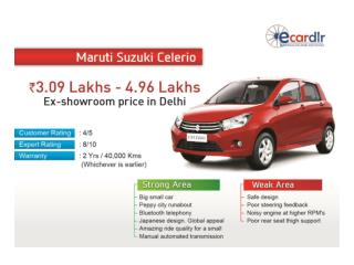 Maruti Suzuki Celerio Prices, Mileage, Reviews and Images at