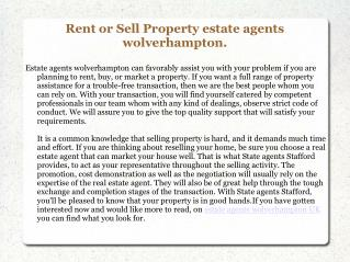 Estate Agents Wolverhampton UK