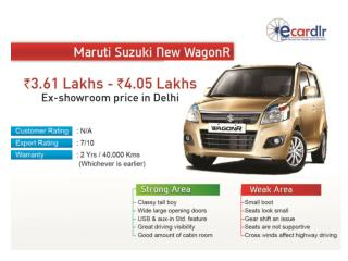 Maruti Suzuki New WagonR 2013 Prices, Mileage, Reviews and I