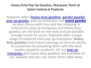 Heavy Duty Pop Up Gazebos, MarqueesTents atSalein Ireland at