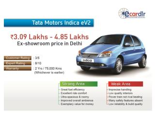 Tata Motors Indica eV2 Prices, Mileage, Reviews and Images a
