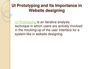 UI Prototyping and Its Importance in Website designing