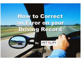 How to Correct an Error on your Driving Record
