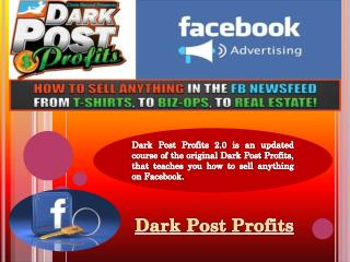 Dark Post Profits Bonus