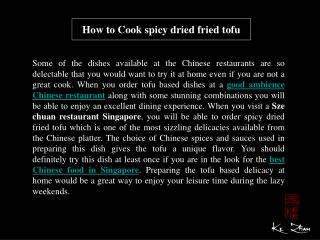 How to Cook spicy dried friedtofu