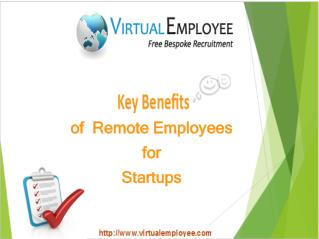 5 Key Benefits of Remote Employees for Startups