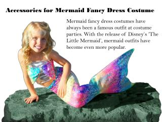 Accessories for Mermaid Fancy Dress Costume