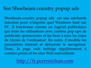 Enlever Shoebeam.country popup ads
