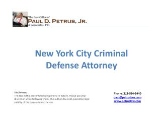 New York City Criminal Defense Attorney