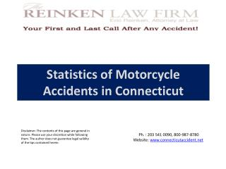 Statistics of Motorcycle Accidents in Connecticut